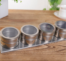 4pcs Magnetic Spice Storage Rack Tin 4 Piece Magnetic Steel Spice Rack