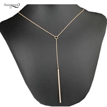 55cm Geometric Pendants Adjustable Necklaces for women Fashion Rose Gold color office lady Jewelry Bijoux  Accessories MSN078