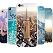 For iPhone 5 5S SE Hard Back Case Empire State Building New York City Design For iPhone 5 5s Cover(China)
