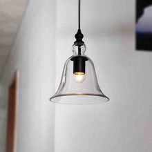 European contracted personality Loft hand blown glass pendant lights Vintage Style Glass bell pendant lamp