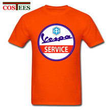 2018 Men Vespa Servizio vintage T Shirt Vespa Service T-Shirt Male tshirt custom made Italian legend Vespa Scooter Tee camisetas(China)