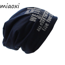 miaoxi Women New Style Hat Male Adult Winter Hat Beanies Thick Warm Caps For Women's Knit Winter Cap Blue Hats(China)