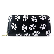 Hot Sale Wallet Women Clutch Smiling Face Paw Long Purse Carteras mujer Card Holder Womens wallets and purses Monedero(China)