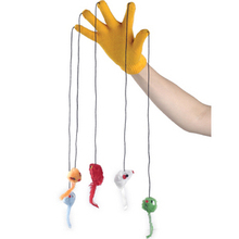 Cat Play Glove 5 fingers with mice cute cat playing toys with owner red yellow blue