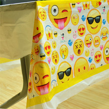 Smiling Face Emoticon Party Supplies Disposable Tablecloth Kids Birthday Decoration Baby Shower For Boys/Girls Pikachu 108x180cm(China)