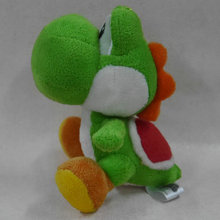 "IN HAND NEW Original Cartoon Games Super Mario Bros. Party 8 Series Plush  Yoshi  GREEN 6.5"" 16cm Stuffed animal"