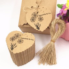 Buy 100pcs DIY Kraft Paper Tags Brown Heart Shape Label Luggage Wedding Note Blank price Hang tag Kraft Gift tags+100pcs strings for $5.69 in AliExpress store