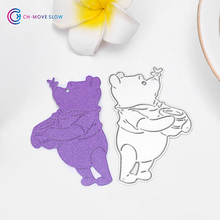 CH Bear and honey Cutting Dies Stencils Paper Cards Decorative Scrapbooking Die Cut(China)