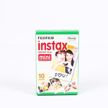 100% Original Fujifilm Fuji Instax Mini 8 Film Blanc 10pcs Photo Paper For Polaroid 7s 8 90 25 55 Share SP-1 Mini Instant Camera