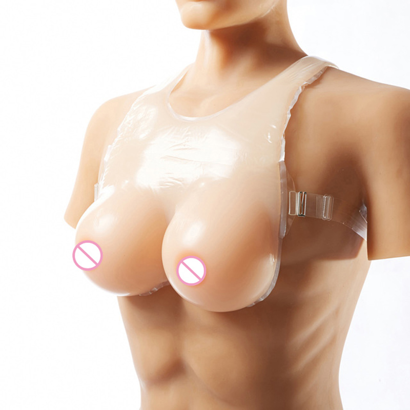 800g 1000g 1200g Realistic Silicone Breast Forms Strap Fake Boobs False Breasts Bust Enhancer for Crossdresser<br>