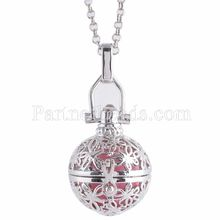 Partnerbeads Geometric Angel Lockets Plated Inlaid CZ Stone Stainless Steel Cage Prayer Box (exclude the ball) AC3764S