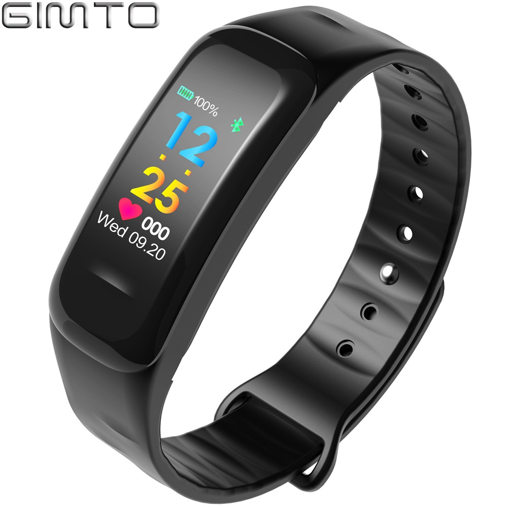 Fashion Health Women Men Smart Bracelet Watch Black Color IOS Android Iphone Bluetooth Heart Rate Smart Watch Casual Waterproof<br>