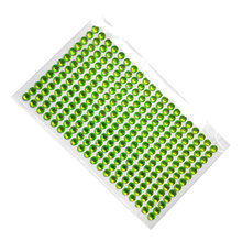 Nail Art 6mm Kindergarten Rhinestone Stickers Acrylic green crystal Self Adhesive Hair decoration Wall Furniture decoration