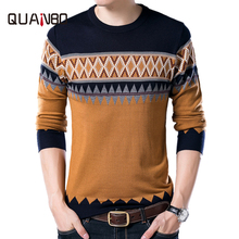 2017 New Autumn Fashion Brand Clothing Casual Sweater O-Neck Argyle Pattern Slim Fit Knitting Mens And Pullovers Men Pullover