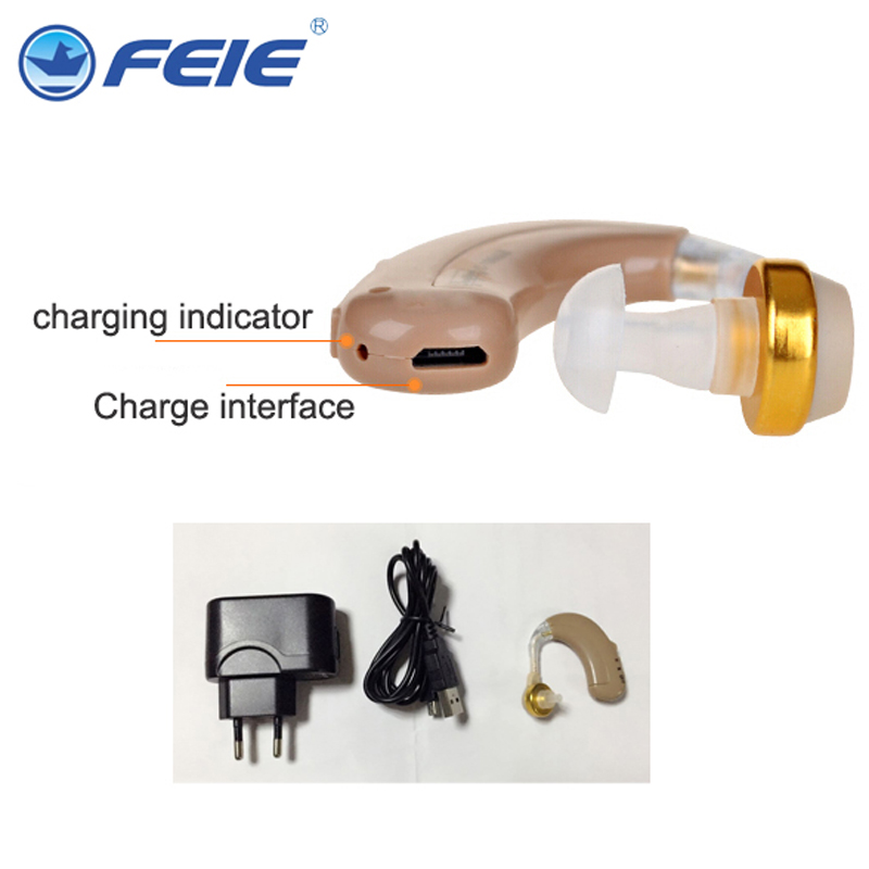 USB Hearing Aid Rechargeable Noise Reduce Amplifier Volume Adjustalbe C-109 Audiphone Phone Charger Interface Free Shipping<br>