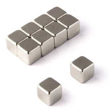 10pcs Cube Strong Neodymium Rare Earth Magnets Block 1.1Kg Pull Magnetic 5x5x5mm For Indutry Tools(China)