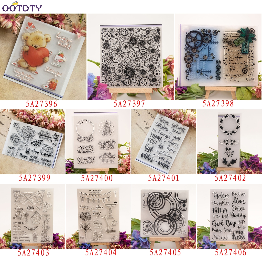 Novelty Sewing Tool Clear Stamp DIY Scrapbooking Card Making Photo Album Decor X