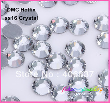 Free Shipping! 1440pcs/Lot, ss16 (3.8-4.0mm) High Quality DMC Crystal Iron On Rhinestones / Hot fix Rhinestones