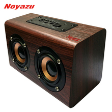 Noyazu Mini Wooden Outdoor Bluetooth Loudspeaker Rock Bass Stereo Speakers With MIC TF Card AUX In altavoz(China)