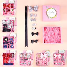 2017 Hot Korea DIY boutique Bow Hair Clips Hairpins Box Packing Kids Girls Gift Hair Accessories Photography Prop(China)