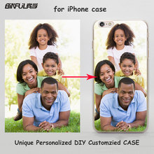 Unique Personalized Customized DIY Printing hard transparent clear Cover Case for Apple iPhone 8 8Plus 7 6s Plus SE 5 5s 4 4s 5c(China)