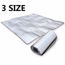 Waterproof Aluminum Foil EVA Camping Mat Foldable Folding Sleeping Picnic Beach Mattress Outdoor Mat Pad 3Size 100~200X200cm(China)