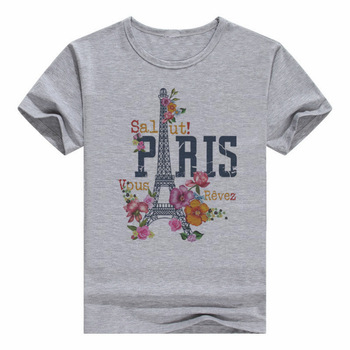 Harajuku CDJLFH Clothes 2017 Summer Women Printed T Shirts Grey Round Neck Short Sleeve T-shirt Casual Style Female Tops Tee