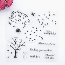 2017 new 15x18cm Romantic  Scrapbook DIY Photo Album Account Transparent Silicone Rubber Clear Stamps