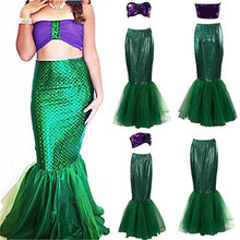 woman Cosplay Clothing Ladies Aquarius Sirena the Mermaid Fancy Dress Party purple Costume Halloween Cosplay set