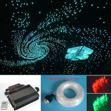 NEW 90w RGB LED fiber optic star ceiling light kit 0.75mm 700pcs*3m optical fiber end glow LED dmx light engine light source