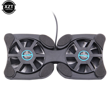 "Hot Selling laptop cooler Double Fans USB Port Mini Octopus Notebook Fan Cooler Cooling Pad For 7""-15"" Laptop(China)"