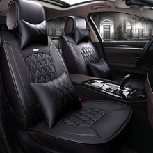 leather car seat cover covers auto automobiles cars accessories for dodge caliber caravan journey nitro ram 1500 intrepid 2017(China)