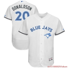 MLB Men's Toronto Blue Jays Josh Donaldson 20 Baseball White Father's Day Flex Base Jersey(China)