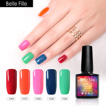 BELLE FILL 10ml UV Gel Nail Polish LED Soak Off Gel Polish Colorful Nude Pink Red Army Green 20 Color Vernis Semi Permanent