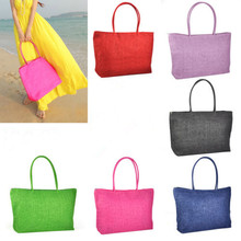 AUAU  Hot New Design Straw Popular Summer Style Weave Woven Shoulder Tote Shopping Beach Bag Purse Handbag