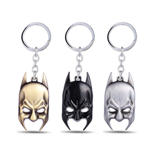 3 colors Batman Key chain Hot movie keychain friend gift men key ring holder jewelry
