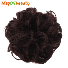 MapofBeauty black brown Colors Women Natural Curly Hairpiece Synthetic Hair Bun Donut Chignon Hair Extension Accessories