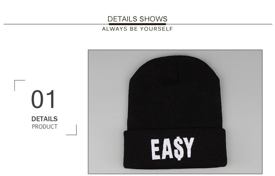 ADK Embroidery Men Women Black Cap Winter Warm 2018 New High Quality Brand Fashion Casual Hats Unisex #CAP188 (3)