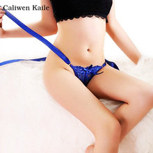 Hot Female Free Size Cotton Lace Thong G-string Lace Sexy Underwear Women's Panties Low Waist string Lingerie Intimates Thongs