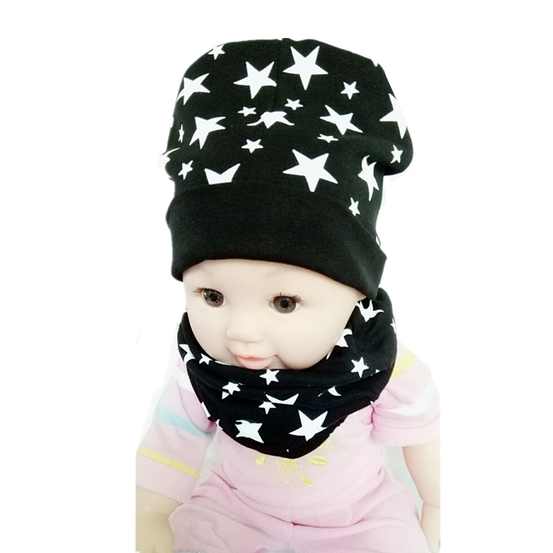 New Style Spring Autumn Winter Crochet Baby Hats Boy Girl Cap Baby Beanies Cotton Scarf Infant Hats Set Child Caps Scarf