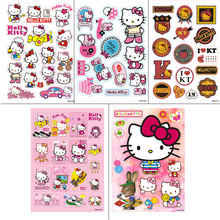 5Desighs A4 Size Hello Kitty Cartoon doodle Sticker Computer Laptop Skin luggage Motorcycle Car Styling Sticker Waterproof Decal(China)