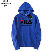 Novelty 2017 F.I.L.A brand hoodie street hip hop red black gray pink hooded sweatshirt man's sweatshirts and sweat shirts Size(China)