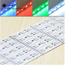 free shipping 10pcs/lot 40inch led rigid strip ,12vdc 72led/m 14.4w 5050 RGB led hard strip ,led cabinet bar light with channels