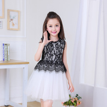 Buy girls dress summer 2017 princess baby girl black vintage lace dress kids clothes brands high children beautiful clothing for $16.89 in AliExpress store