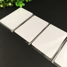 50pcs White Proximity Card IC Inkjet PVC Card 125Khz RFID Access 0.8mm TK4100 IC card(China)