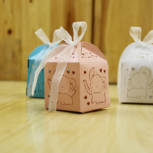 50pcs cartoon elephant souvenirs baby shower birthday party decoration party supplies candy box chocolate box gifts for guests