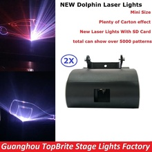 2 Pack Free Shipping 1W Laser Light RGB Full Color Animation Beam Stage Lighting KTV Disco DJ Lights 1000mW Cartoon Laser Lights(China)