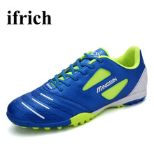 Men Shoes Football 2017 Girls Soccer Cleats Black/Orange Football Shoes Children Anti-Slip Soccer Trainer Mens Football Boots