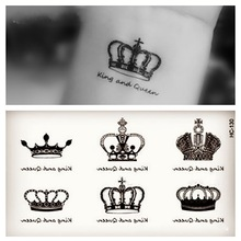 1pcs Small Crown Angel Wings Cat Pattern Temporary Tattoo Stickers Waterproof Women KIds Transferable Colorful Female Tattoos