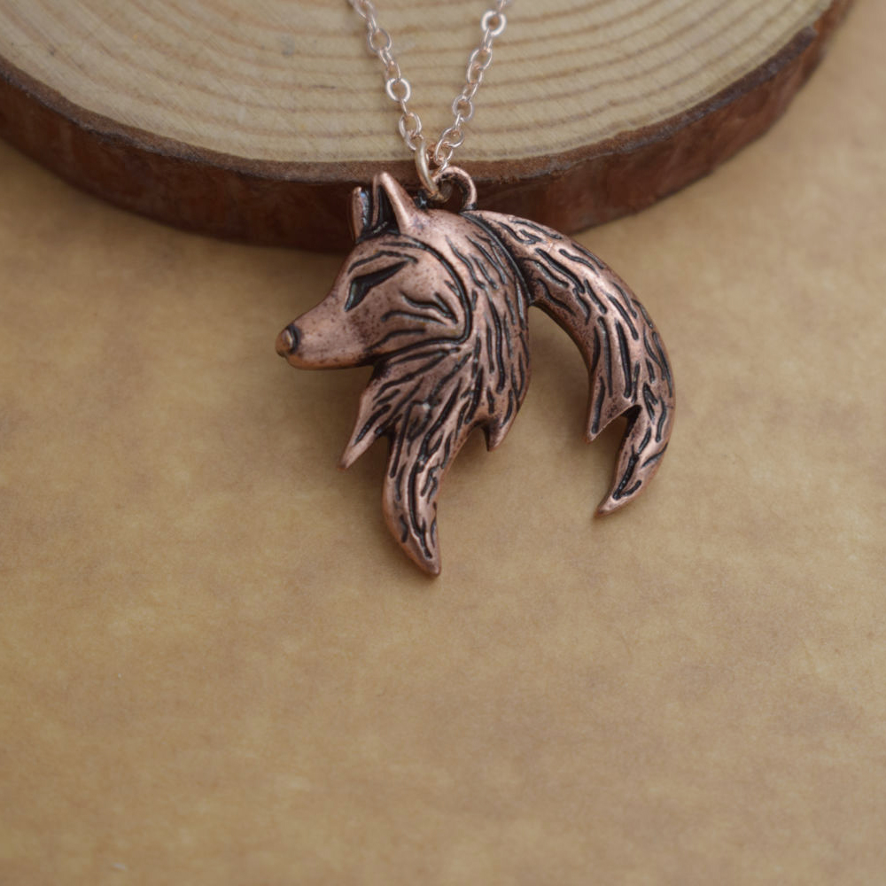 Yin Yang Wolf Necklace For Couples (2 necklaces) copper